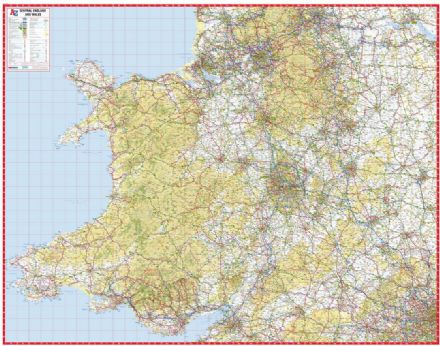 A-Z Central England and Wales Road Map
